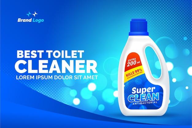 Melhor anúncio de produto de limpador de banheiro