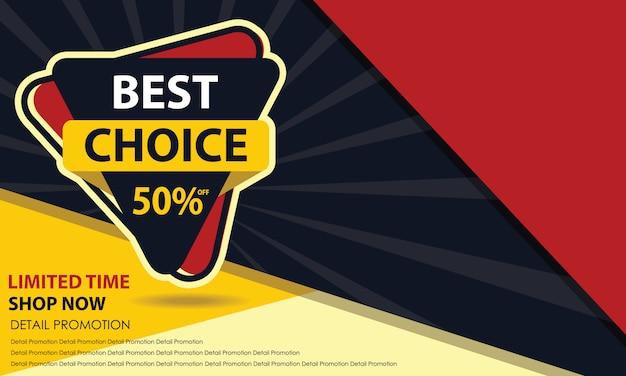 Melhor banner de venda de escolha