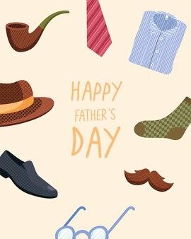 Melhor cartão de felicitações de pai com moldura com acessórios