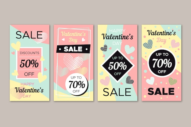 Melhor coleção de histórias de venda de dia dos namorados