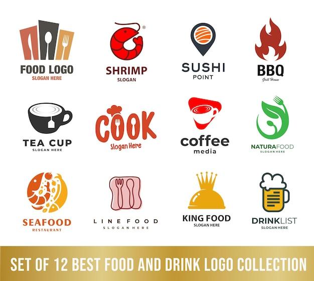 Melhor coleção de logo comidas e bebidas