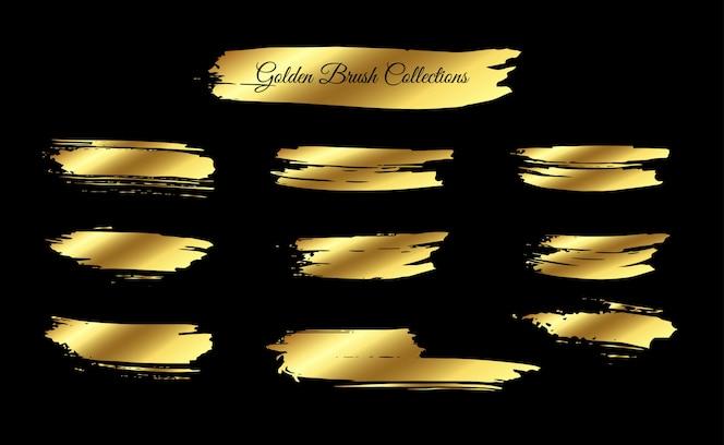 Melhor coleção de pinceladas douradas
