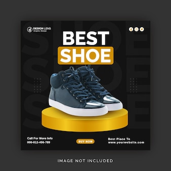 Melhor conceito de anúncio de coleção de sapatos instagram banner anúncio modelo de postagem em mídia social