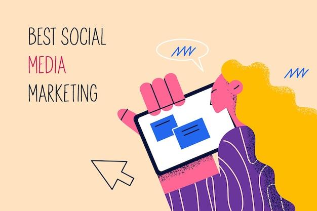 Melhor conceito de marketing de mídia social