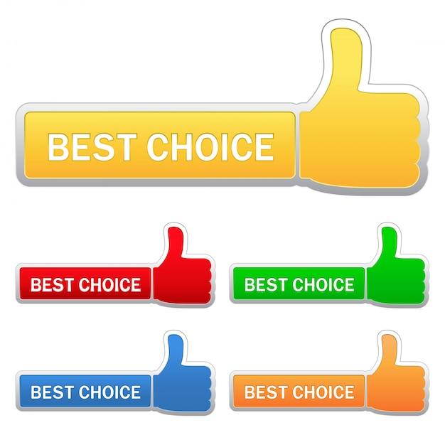 Melhor conjunto de botão de escolha