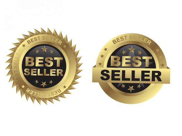 Melhor design de distintivo dourado de vendedor