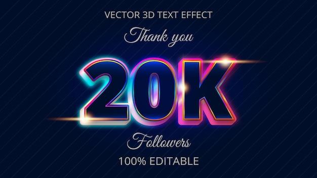 Melhor design de efeito de texto 3d 20k