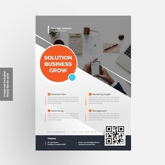 Melhor design de negócios flyer