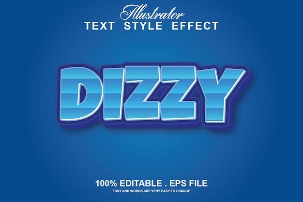 Melhor efeito de texto editável isolado em azul