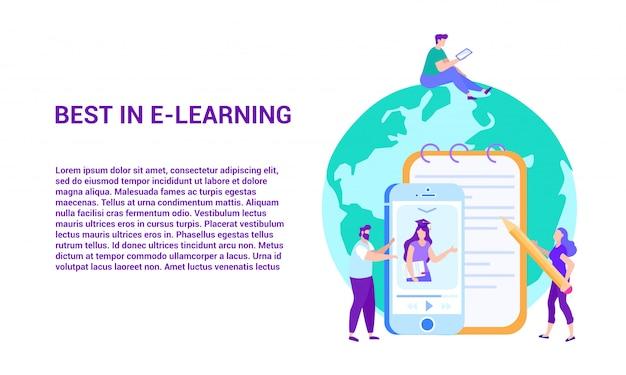 Melhor em e-learning. ensino à distância