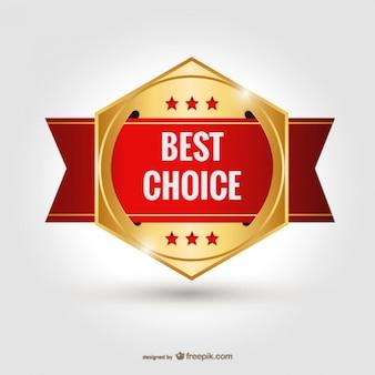 Melhor escolha badge vector