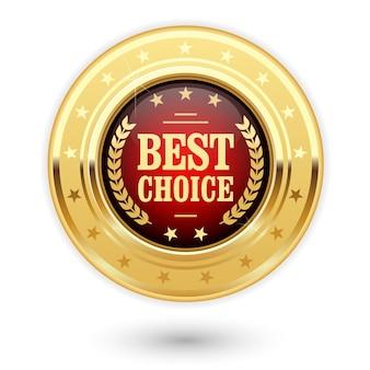 Melhor escolha - insígnia dourada (medalha)