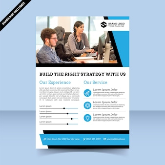 Melhor estratégia para construir modelo de design de folheto de negócios