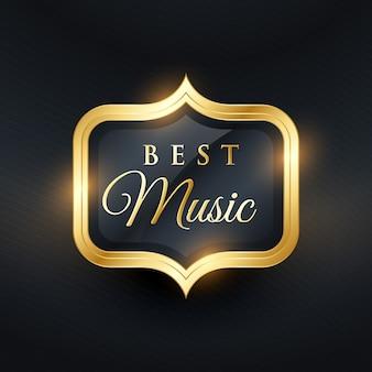 Melhor etiqueta de música dourada para prêmios
