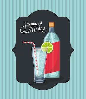 Melhor garrafa de bebida com moldura de copo
