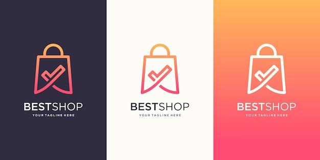 Melhor loja, bolsa combinada com marca de seleção