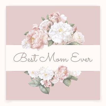Melhor mãe sempre lettering