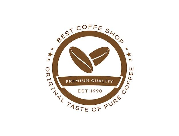 Melhor marca de cafeteria na forma de um selo para o logotipo da cafeteria