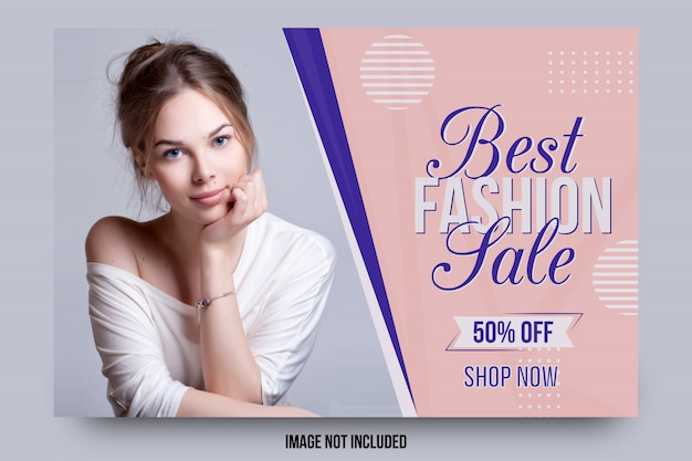 Melhor modelo de banner de venda de moda