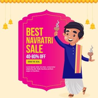 Melhor modelo de design de banner de festival indiano para venda de navratri