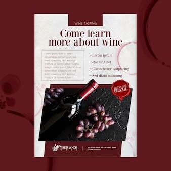 Melhor modelo de folheto de evento de degustação de vinhos