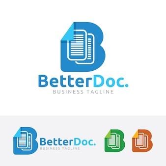 Melhor modelo de logotipo de vetor de documentos