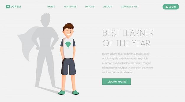 Melhor modelo de página de destino do aluno