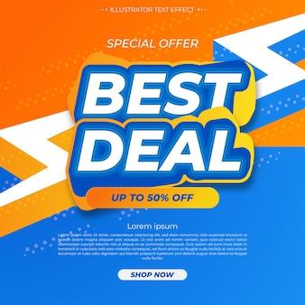Melhor negócio. promoção de modelo de banner de venda
