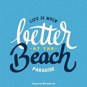 Melhor no fundo da praia