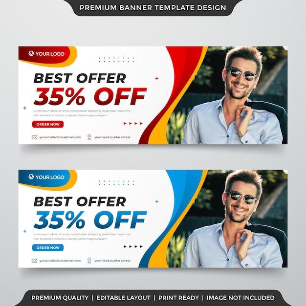 Melhor oferta de design de modelo de banner da web