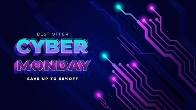Melhor oferta de fundo cibernético de segunda-feira