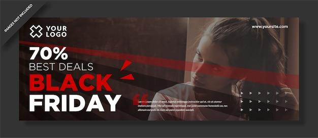 Melhor oferta limitada oferta limitada capa preta do facebook de sexta-feira