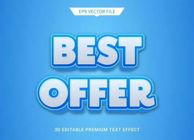 Melhor oferta vetor premium efeito estilo texto editável 3d