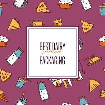 Melhor padrão sem emenda de produtos lácteos