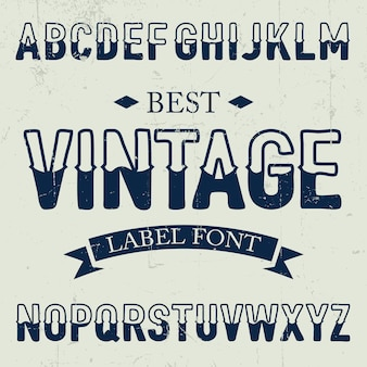 Melhor pôster de fonte vintage na ilustração de ruído empoeirado