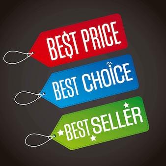 Melhor preço com melhor escolha e best seller rótulos vecor