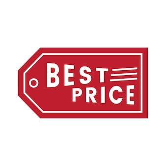 Melhor preço promocional emblema vector