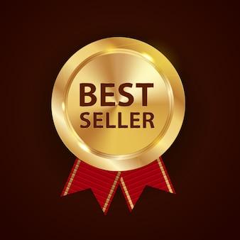 Melhor vendedor da etiqueta de ouro.