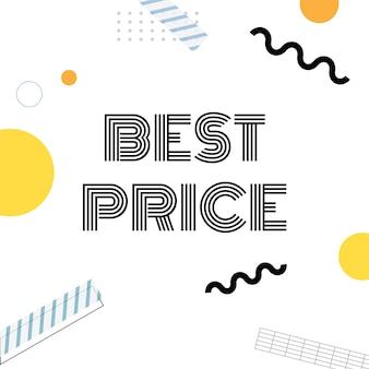 Melhor vetor de anúncio de promoção de preço