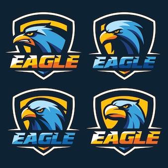Melhor vetor de logotipo de cabeça de águia