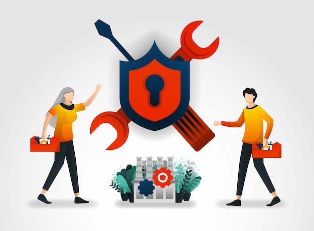 Melhorar os sistemas de segurança industrial e de fábrica