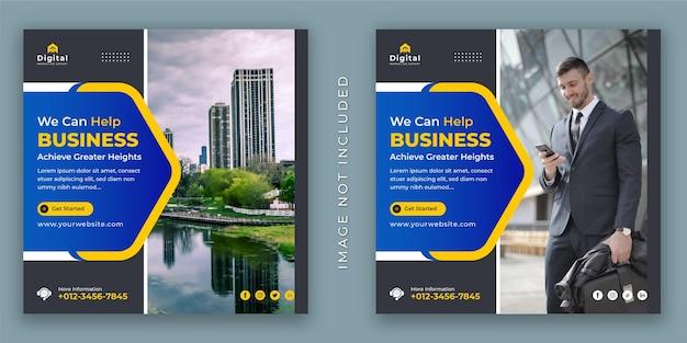 Melhore o seu folheto de negócios e agência corporativa