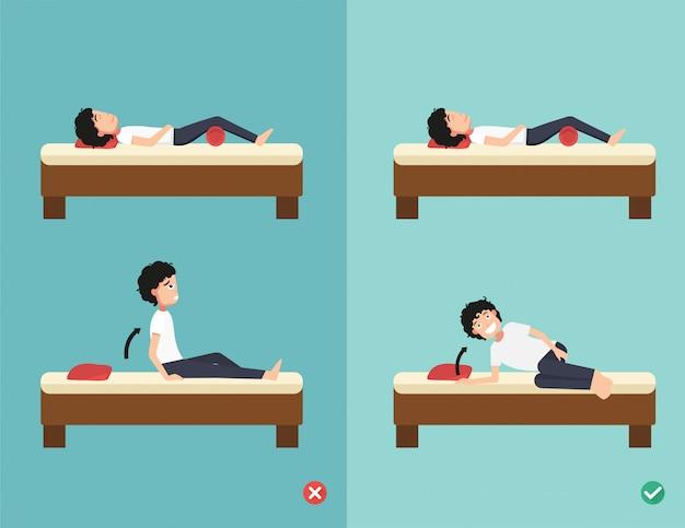 Melhores e piores posições para acordar
