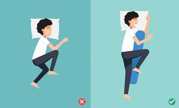 Melhores e piores posições para dormir, ilustração