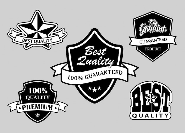 Melhores emblemas de etiqueta de qualidade