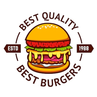 Melhores hambúrgueres. hambúrguer em fundo branco.