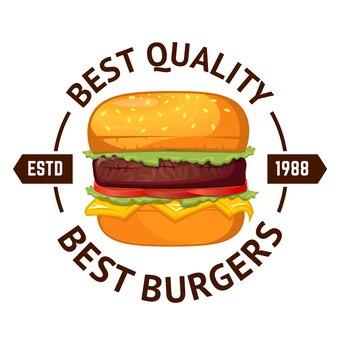 Melhores hambúrgueres. hambúrguer isolado no fundo branco.
