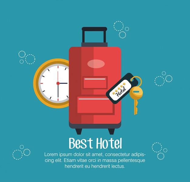 Melhores ícones de serviços conjunto de hotel