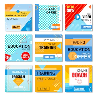 Melhores ofertas de educação, conjunto de histórias de aprendizagem on-line