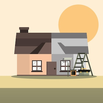 Melhoria da casa antes e depois